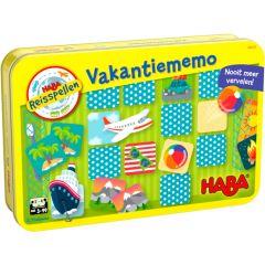 Haba magnetisch reisspel in blik Vakantiememo 3+