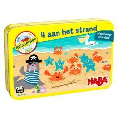 Haba magnetisch reisspel in blik 4 aan het strand 3+