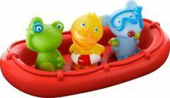 Drijvende badboot met dierenmatrozen Ahoi!