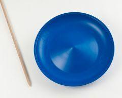 Jongleerbord Circus Jojo blauw met stok 60 cm