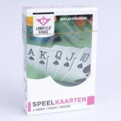 Speelkaarten geplastificieerd