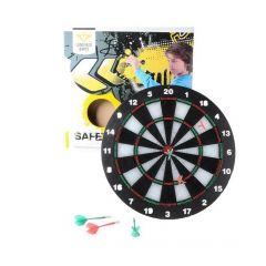 Safety dartboard voor kinderen met 6 softpijltjes