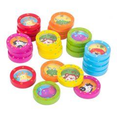 Schenkspeelgoed - Behendigheidsspelletje: kleurrijk diertje