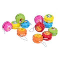 Schenkspeelgoed - Houten jojo: kleurrijk diertje