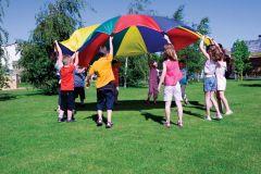Parachute 3,6 m met 8 handlussen 1 kg