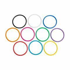 Set van 10 werpringen van 14 cm in verschillende kleuren