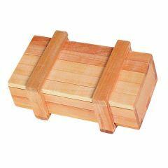 Magisch opbergdoosje in hout 10,5 x 5,5 x 4 cm