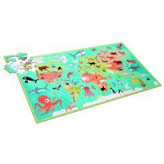 Puzzel dieren van de wereld 6+ 100 stuks 92 x 50 cm