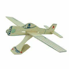 Airmail vlieger in balsahout met enveloppe