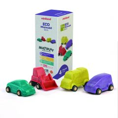 Ecomobiel 9 cm set van 4 autootjes