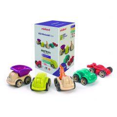 Ecomobiel 12 cm set van 5 autootjes