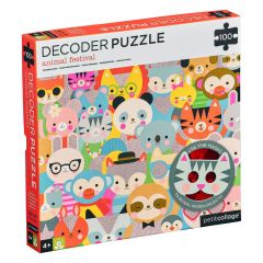 Decoder puzzel 100 stuks Dierenfestival 4+