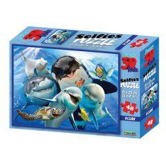 3D-puzzel 48 stuks Selfie oceaan 3+