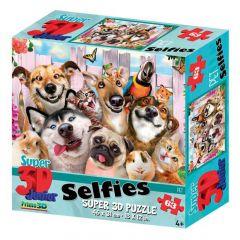3D-puzzel 63 stuks Selfie huisdieren 4+