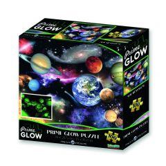 Glow-in-the-dark puzzel 100 stuks zonnestelsel 5+