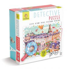 Detective puzzel De stad 108 stukjes 5+