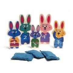 Kegelspel bedtijd konijntjes 3+
