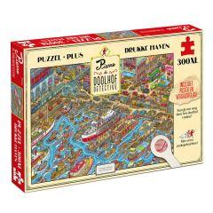 Pierre Doolhofdetective - Drukke haven (Puzzel 300 XL stuks)