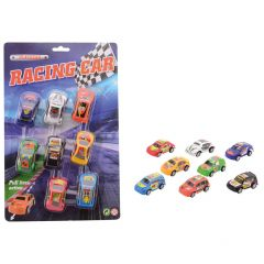 Schenkspeelgoed - Mini racingcars (pullback auto) 8 stuks