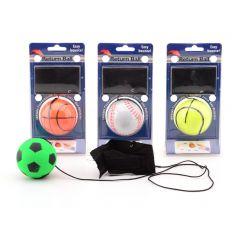 Gooi- en vangbal met polsband