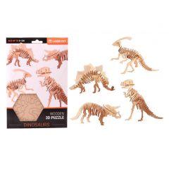 Houten 3D-puzzel dinosaurus (4 verschillende modellen)