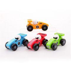 Houten autootje 12,5 cm verschillende kleuren