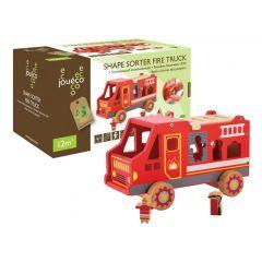 Houten vormsorteerder brandweerwagen