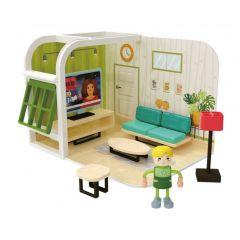 Poppenhuisset woonkamer