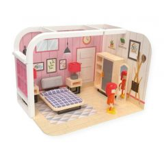 Poppenhuisset slaapkamer