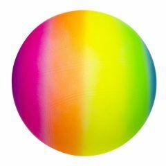 Plastic bal regenboog 23 cm (niet opgeblazen)