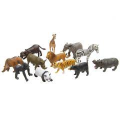 Jungleset met 12 wilde dieren