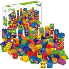 BioBuddi Educatief bouwen met 100 blokjes + 3 basisplaten