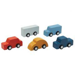 Plan Toys Mini Car Set met 5 autootjes