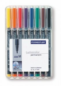 Lumocolor permanentpen medium set 8 kleuren