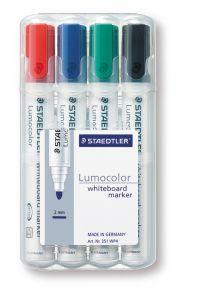 Whiteboard marker ronde punt rood-blauw-groen-zwart