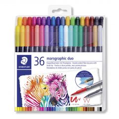 Staedtler Marsgraphic viltstift duo brush 36 stuks