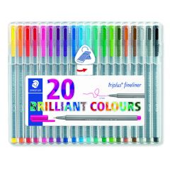 Staedtler Triplus Color viltstift in stevig etui 20 st
