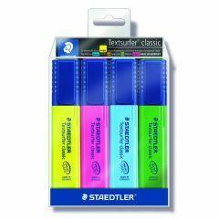Markeerstift textsurfer fluo box geel-roze-blauw-groen