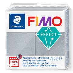 Fimo Effect 56 g metallic zilver