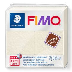 Fimo Leather 57 g ivoor