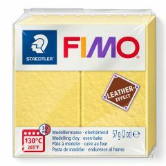Fimo Leather 57 g saffraan geel