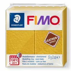 Fimo Leather 57 g oker