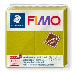 Fimo Leather 57 g olijf
