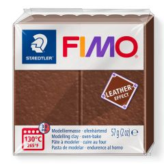 Fimo Leather 57 g noot