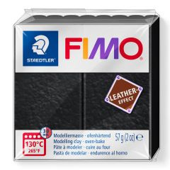 Fimo Leather 57 g zwart