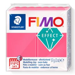 Fimo Effect 56 g transparant rood