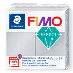 Fimo Soft 57 g parelmoer zilver