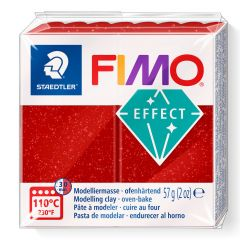 Fimo Effect 56 g glitter rood