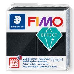 Fimo Effect 57 g parelmoer zwart