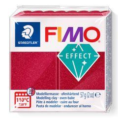 Fimo Effect 56 g metallic robijnrood